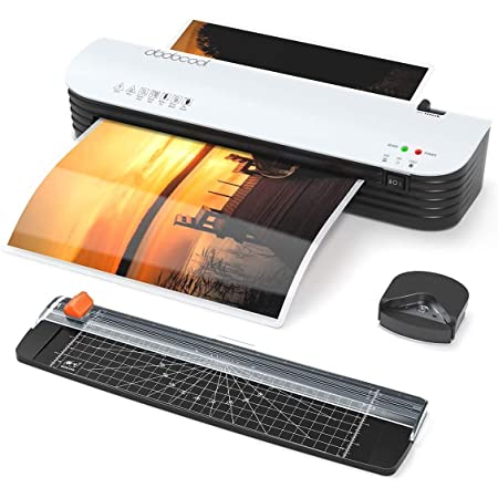 Laminator, dodocool Thermal Laminating Machine, 4 in 1 Personal Laminator for Home Use Shcool Teacher Office, 9 Inches Small Cold Lamination Machine with 20 A4 A5 A6 Pouches Trimmer Corner Rounder