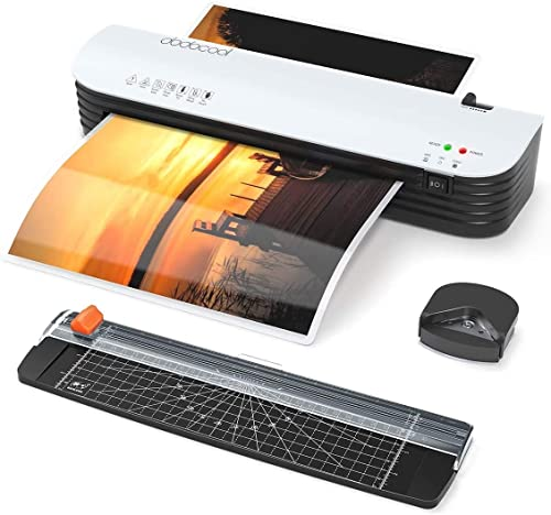 Laminator dodocool Thermal Laminating Machine 4 in 1 Personal Laminate for Home Use Shcool Teacher Office Document 9 ...