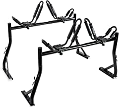 AA Products Model X35 Truck Rack with 8 Non-Drilling C-Clamps and 2 Sets Kayak J-Racks with Ratchet Lashing Straps & Ratchet Bow and Stern Tie Down Straps