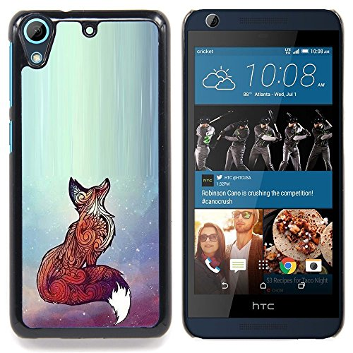 - Fox Red Cute Animal Bright Art Beautiful/ Hard Snap On Cell Phone Case Cover - Cao - For HTC Desire 626 & 626s