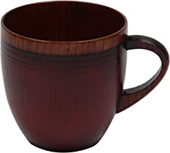 大阪長生堂 木製 マグカップ 大 朱 山中塗 横幅12cm 木製箸特典付き ウッド キャンプ 手作り アウトドア