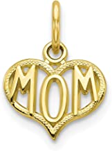 10k Yellow Gold Mom Pendant Charm Necklace Special Person Fine Jewelry For Women Gifts For Her