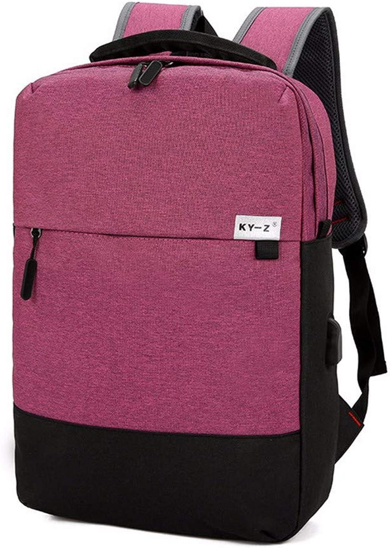 USB Charging Backpack College Student Bag Men's Nylon Cloth Computer Bag Casual Backpack,D