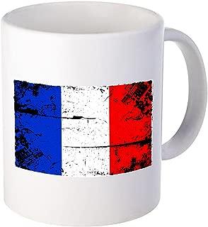 Vizor France Flag Mug France Coffee Mug Tea Cup from France Mug Soccer Gifts White 11 oz