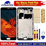 AiBaoQi For 5.7'' Meizu Pro 6 Plus LCD&Touch Screen Digitizer Assembly for meizu Pro 6 Plus M686g LCD Screen replacment (Black with Frame)