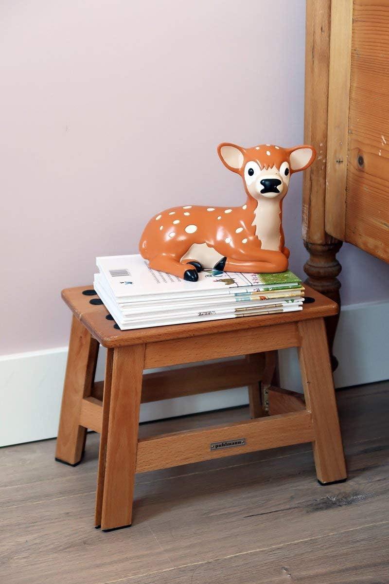 Puhlmann 1001915 James Wood - Klapphocker aus Holz, 31,5 x 21,5 x 23 cm