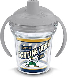 Tervis 1292083 NCAA Notre Dame Fighting Irish Born a Fan Sippy Cup, 6 oz, Clear