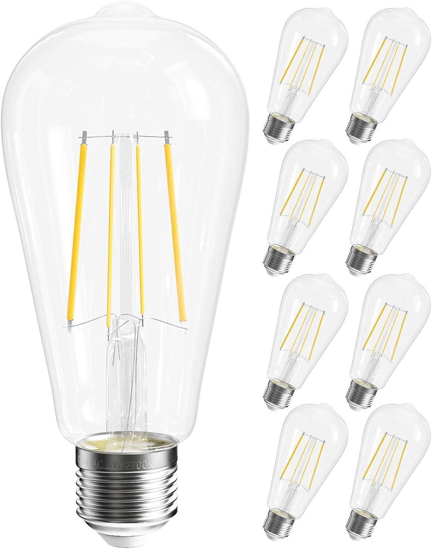 SHINESTAR 8-Pack LED Edison Light Bulbs 60 Challenge the lowest price of Japan wat White Warm 2700K Branded goods