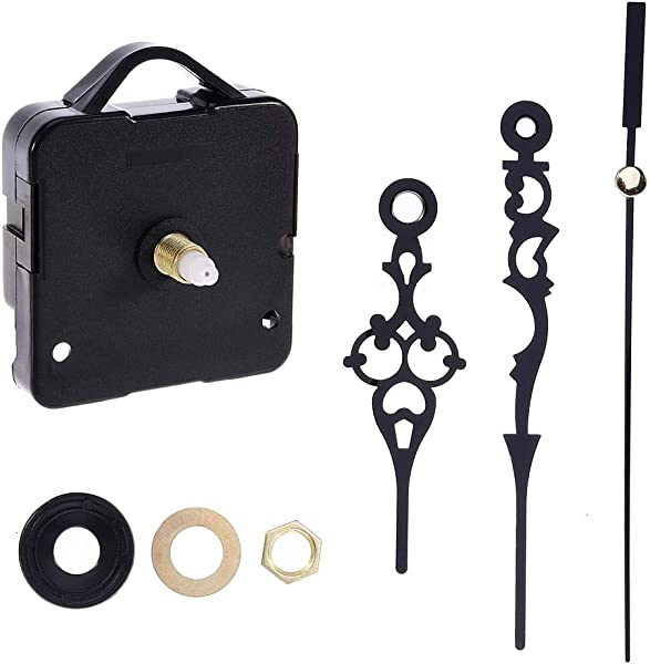 Feeko Clock Mechanism High Torque Clock Replacement Movement Kit Clock Battery Operation DIY Repair Parts Replacement Total Shaft Length 2 2 Inches Black
