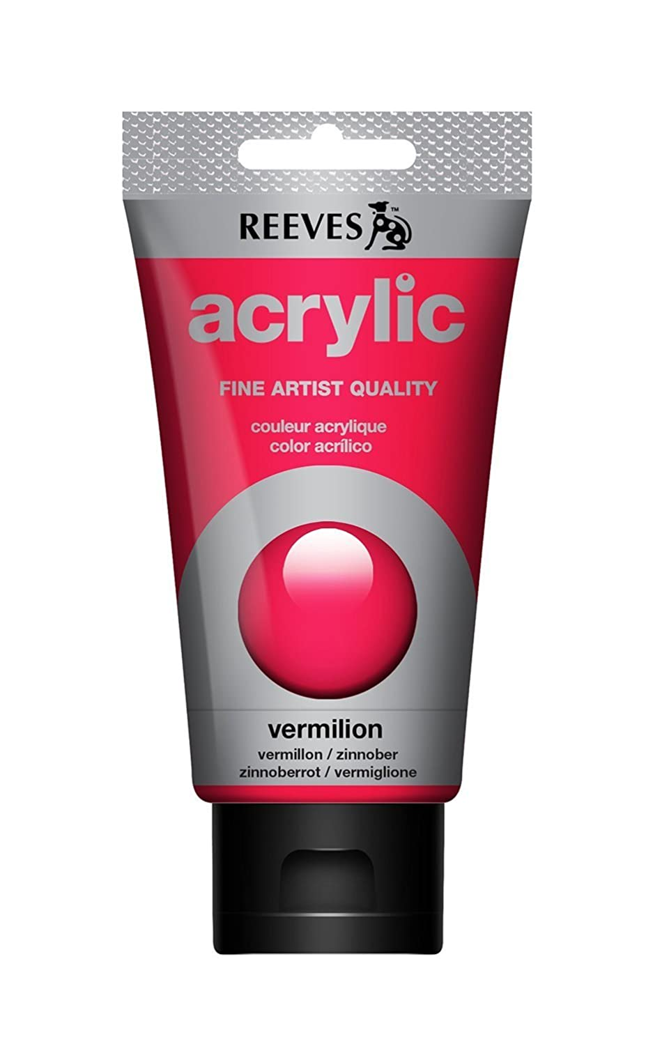 Reeves Acrylic Colour Tube, 75 ml, Vermillion