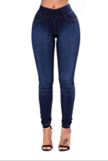 Fashion Solid Jeans Office Lady Butt Lift High Waisted Pencil Jeans Skinny Pants