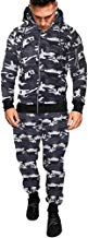 Los Hombres de otoño Invierno Impreso Sudadera Pantalones Superiores Conjuntos de Trajes Deportivos chándal por Internet