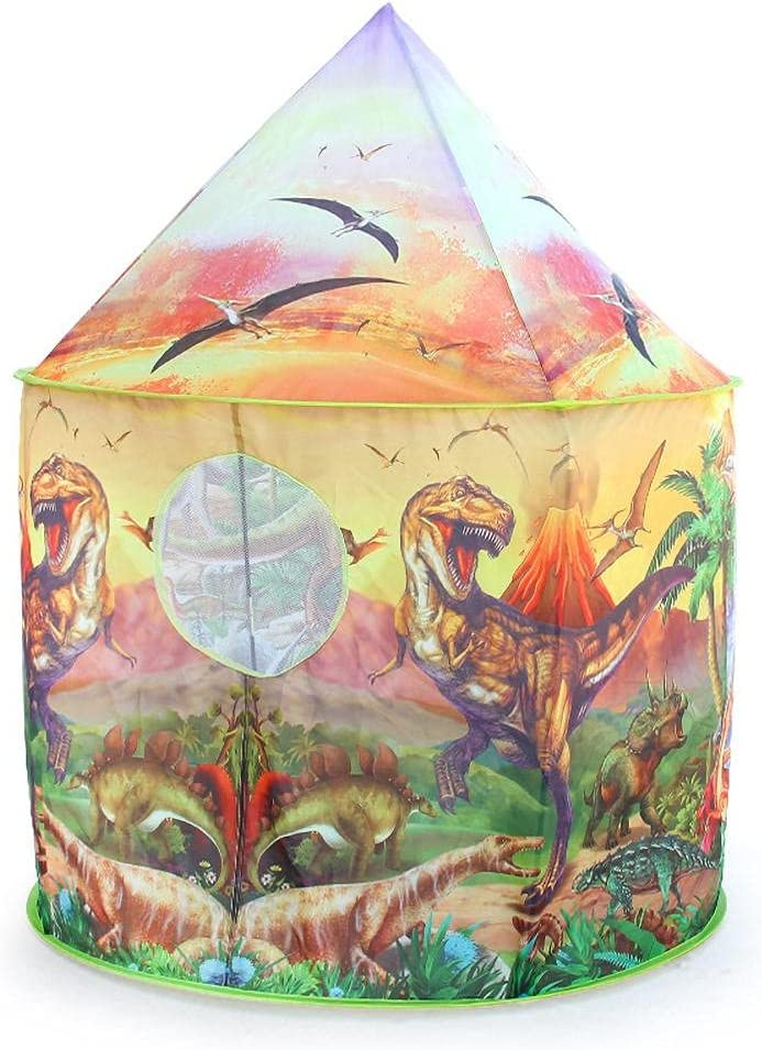 Katyma Max 43% OFF Dinosaur Kids Tent Foldable P Gifts 5 ☆ very popular Play Toys