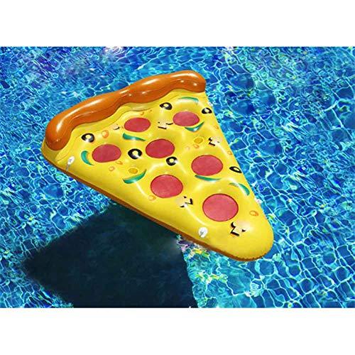 MYLW Amaca d'Acqua Pizza Aria Materasso Gonfiabile Pizza Pezzi Materasso Amaca d'Acqua Letto Galleggiante Sedia a Sdraio Piscina Galleggiante da Spiaggia for Adult 180 x 150 cm