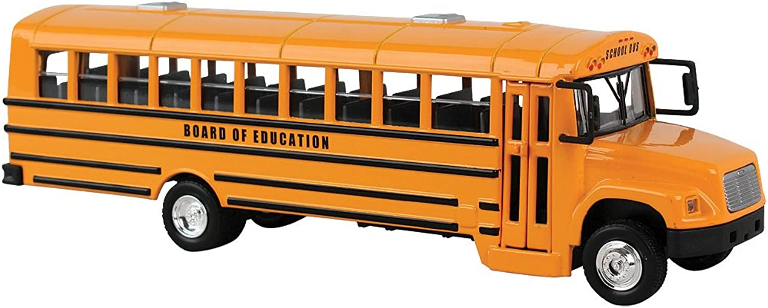School Bus Die Cast  1 53 Scale - Modern Double Doors, Flip Out Stop Sign