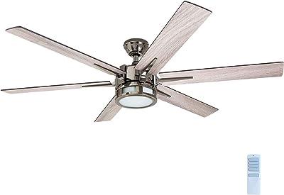 "Honeywell 51035 Kaliza Modern Ceiling Fan with Remote Control, 56"", Gun Metal"