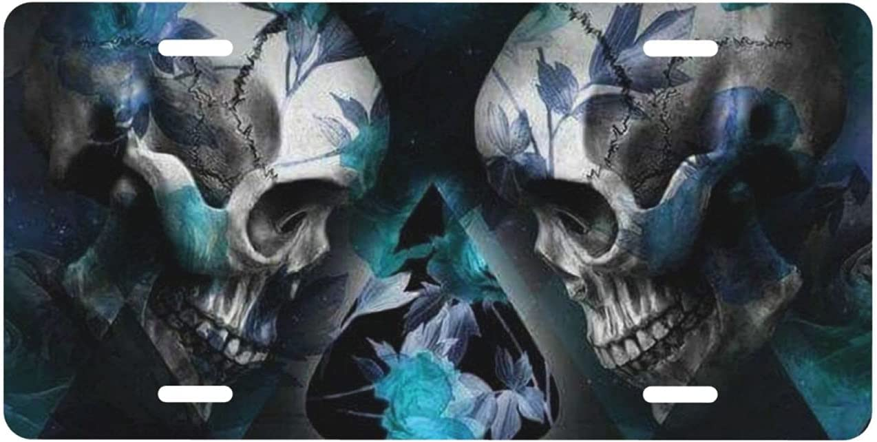 Las Vegas Ranking TOP16 Mall YAZXHJAZ Cool Front License Plates Skull Poker Da Cover Geometry