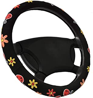 """Car Parts Steering Wheel Cover Flowers for Steering-Wheel 14-15"""" (37-38.5CM) Car Accessories for Girls Female Personalized"""