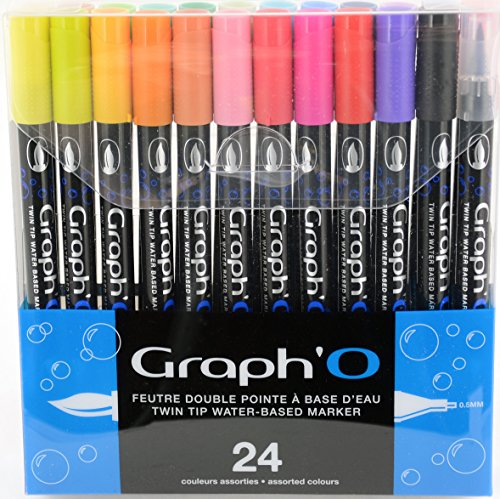 graph' o go00240 Essential Set de 24 rotuladores, color colores variados 24 marqueurs