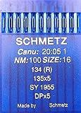 Schmetz, 10 aghi con testa rotonda per macchina da cucire, sistema 134(R), Industria St. 100.