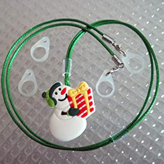 BTE Hearing Aids Protection & Security Clip Anti-Lost Cord Portable Hang Rope (Christmas) (Green)