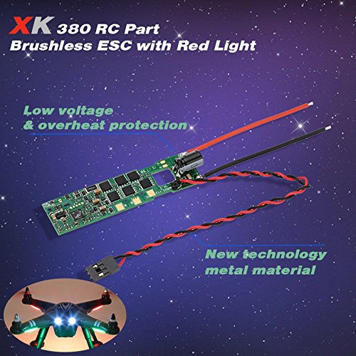 Price comparison product image XK X380-010 Brushless ESC Electronic Speed Controller w / Red Light for XK X380