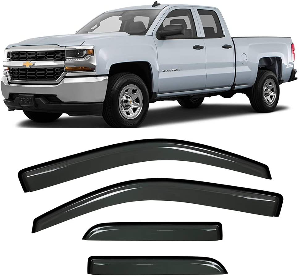 Audrfi 4pcs Side Window Deflector 14-18 Silver for Visors Quality Japan's largest assortment inspection