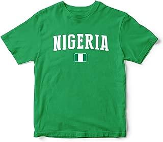 nobrand Nigeria World Cup T-shirt Team Flag For Kids & Mens Green