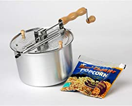 Wabash Valley Farms Stovetop Popper - Whirley Pop with Metal Gears and Popping Kit - Perfect Popcorn in 3 Minutes