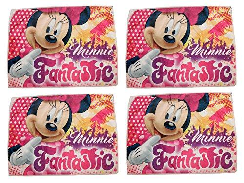 4 manoplas de baño Disney Minnie Mouse, 40 x 31 cm.