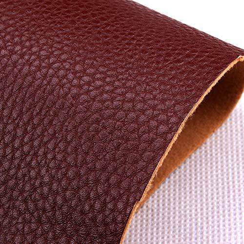 NIANTONG Vinilo Piel sintética de Vinilo, Cuero sintético, Tela de tapicería de Vinilo de PVC de Gran sensación, for amueblar sofás, sillas, Bolsos, tapicería