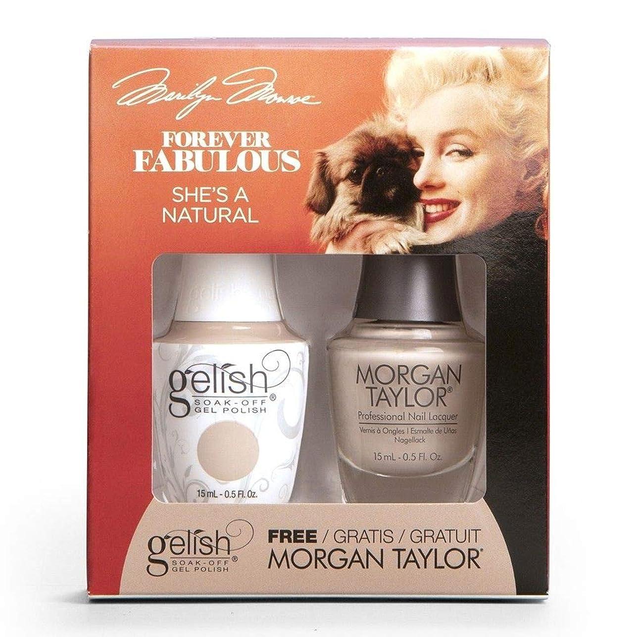 バインド困難ケーブルHarmony Gelish & Morgan Taylor - Two Of A Kind - Forever Fabulous Marilyn Monroe - She's A Natural - 15 mL / 0.5 Oz