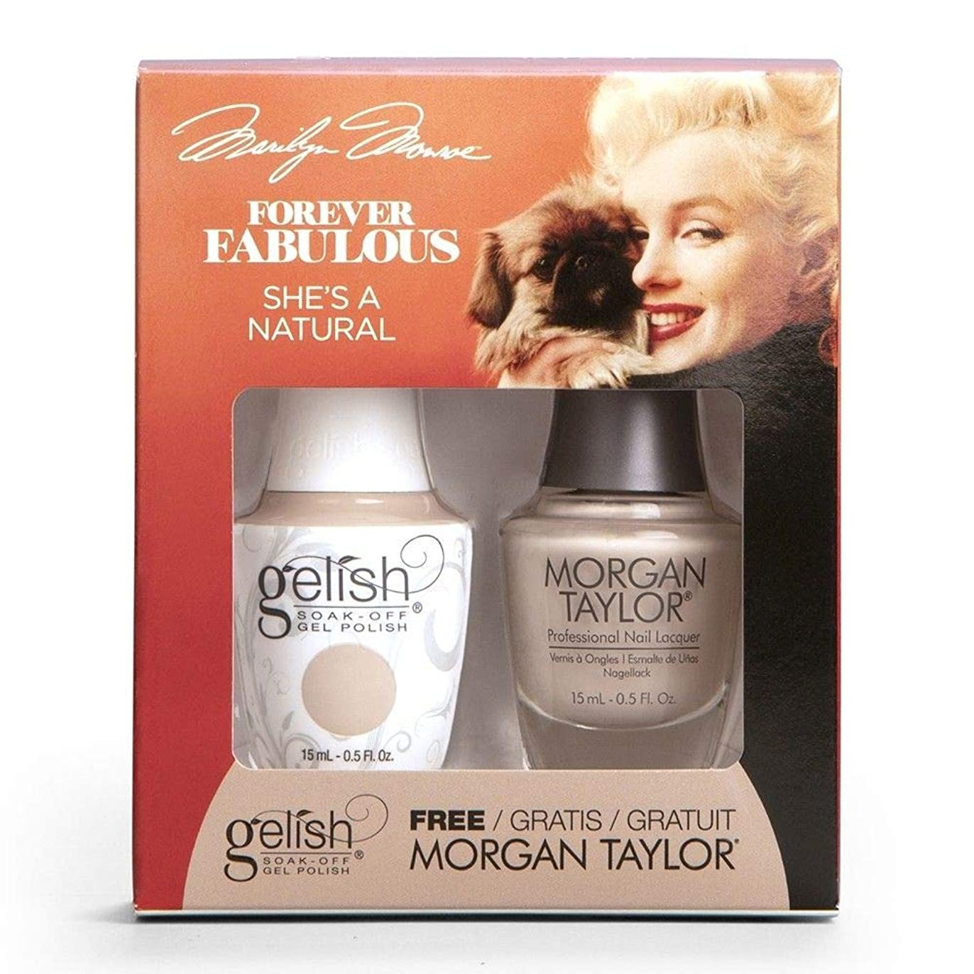 アスリート耳レイプHarmony Gelish & Morgan Taylor - Two Of A Kind - Forever Fabulous Marilyn Monroe - She's A Natural - 15 mL / 0.5 Oz