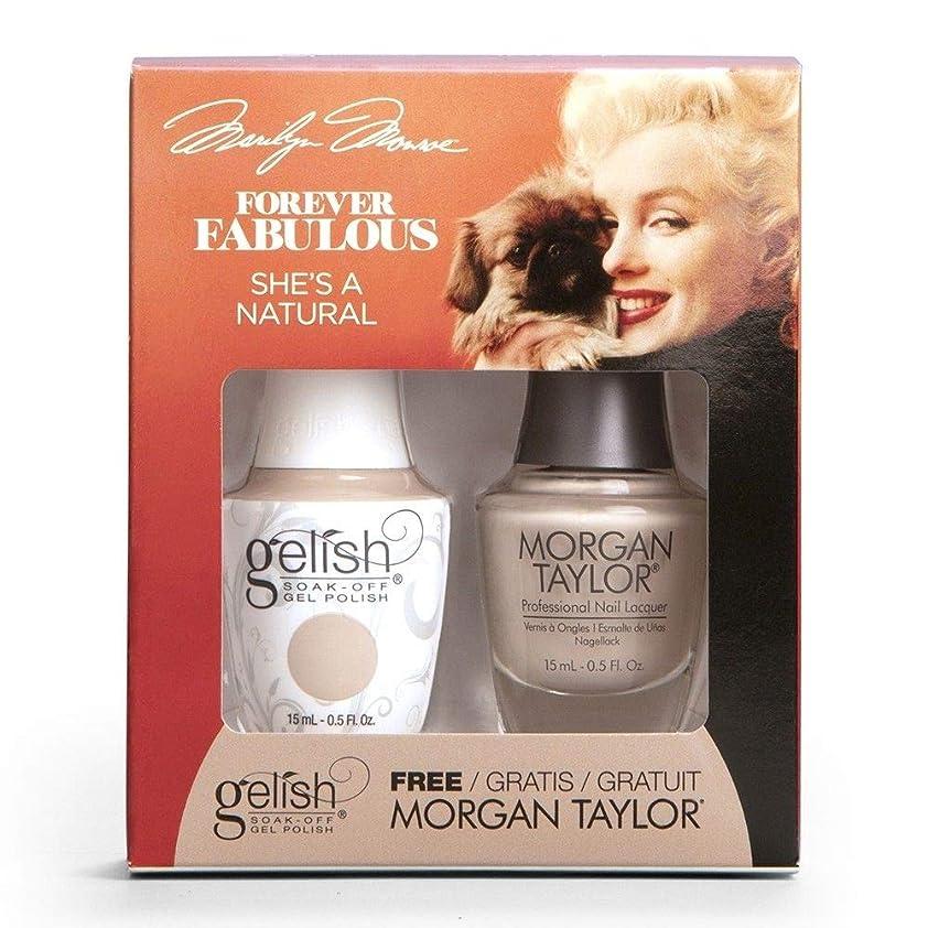味観光に行くキウイHarmony Gelish & Morgan Taylor - Two Of A Kind - Forever Fabulous Marilyn Monroe - She's A Natural - 15 mL / 0.5 Oz
