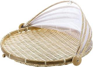 1 Pc tissé à la main panier anti-insectes panier anti-poussière pique-nique à la main fruits et légumes couverture de pain...
