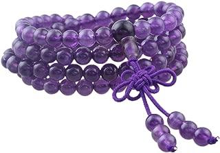 SUNYIK 108 Stone Wrist Mala Bracelet,Necklace,Tibetan Buddhist Prayer Beads