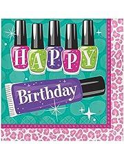 مناديل ورقية سباركل للغداء بطبعة Happy Birthday من كرياتيف كونفيرتينغ، للسبا والحفلات، 16 قطعة، متعددة الالوان