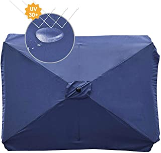 Yescom Rectangle Replacement Patio Umbrella Canopy Parasol Top Cover for 6 Ribs 6.5x10ft Outdoor Umbrella 180g