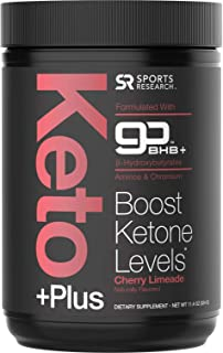 Keto Plus™ Exogenous Ketones (goBHB™) + Amino Acids - 30 Servings | Formulated for Ketosis, Energy and Focus | Keto Certified, Vegan Friendly (Cherry Limeade)