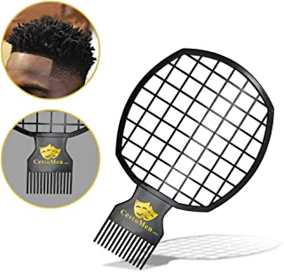 Magic Twist Hair Coils Comb Tool, Afro Pick Hair Curl Sponge Brush (Black)