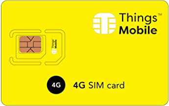 4G SIM Card - Things Mobile - with Global Coverage and Multi-Operator GSM/2G/3G/4G LTE Network, No Fixed Costs, No Expiration Date and Competitive Rates, with $10 Credit Included