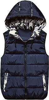 West Sweety Men's Lightweight Active Hooded Zipper Padded Vest Winter Warm Gilet