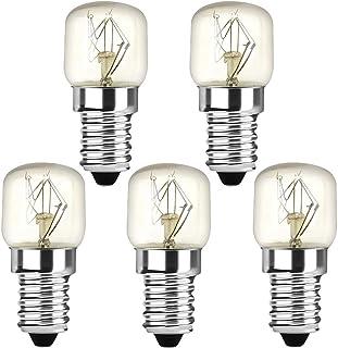 Klarlight 5 bombillas incandescentes de 25 W E14 T22, rosca pequeña Edison SES, bombilla de horno, blanco cálido 2400-2600 K, 360 grados, para luz nocturna, horno, microondas, no regulable