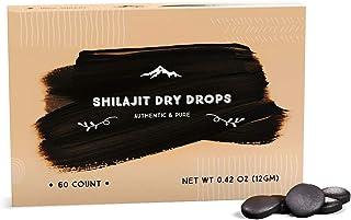 Shilajit Dry Drops from Pure Himalayan Shilajit ® - 60 Counts, 2 Month Supply, Original Siberian Shilajit, 100% Pure, Trac...