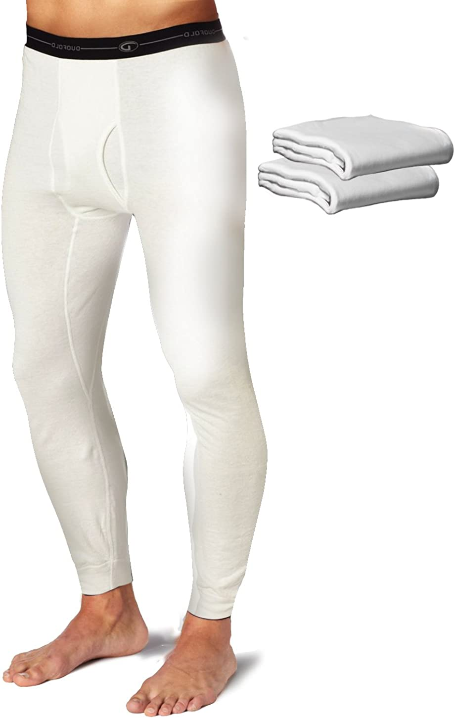 Duofold KMW2 Men's Mid Weight Wicking Thermal Pant Winter White (Pack of 3)