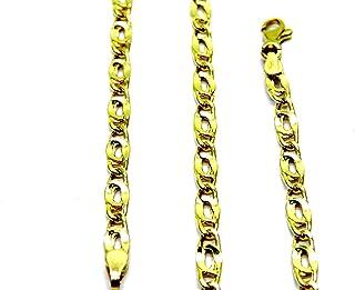 Collana da Uomo in Oro Giallo 18kt (750) Catena Maglia Pernice Pinzata Cm 50