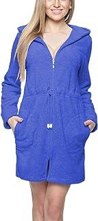 Short femme court à capuche en coton Robe de Chambre Peignoir Taille UK 8 10 12 14Dots//965