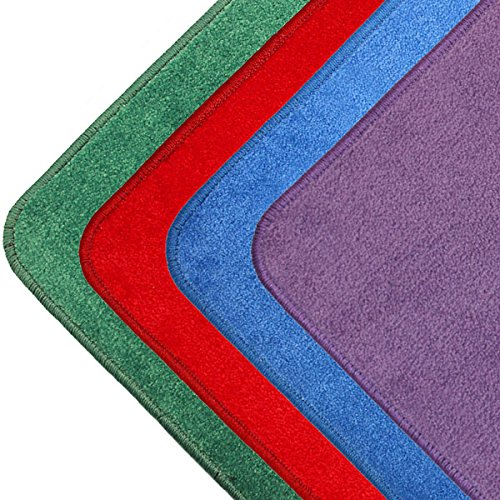 Lytle Kids Carpet Squares - Pack of 24, 16' x 16', Surged Edge