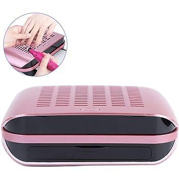 Extractor de polvo de uñas, aspirador de uñas potente con extractor de polvo con ventilador de 65 W con guante transparente, herramienta de manicura para aspirador: Amazon.es: Belleza