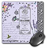 lavender purple mousepad with vintage flowers and butterflies